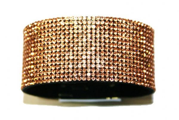 Diamante crystal bling cuff bracelet kit - Peach -- c4009012
